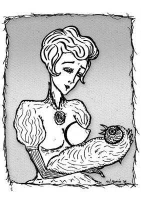 Mi versión del cuervo para fanzine Ilustraciones