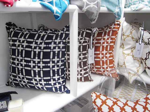 New colorways for the classic linen collection on the shelves at the New York International Gift Fair
