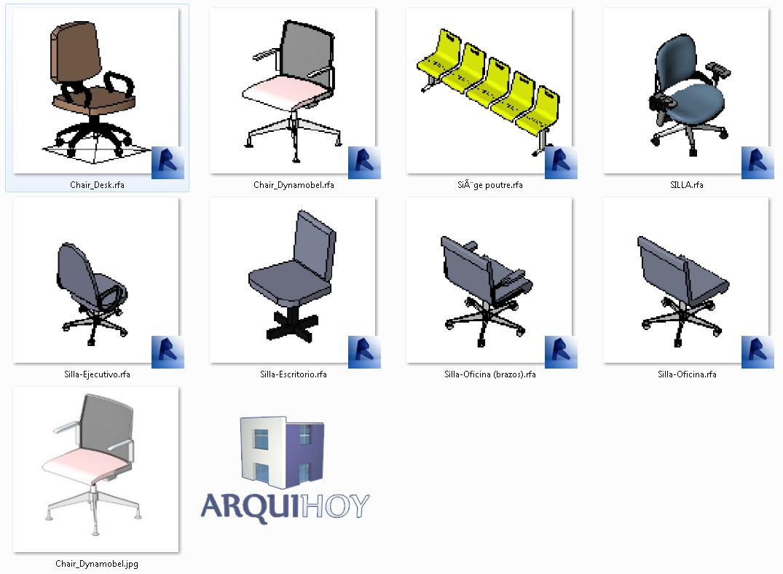 Asientos para oficina rfa arquihoy revit for Asientos para oficina