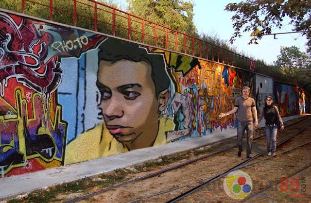 Cara membuat efek foto graffiti ditembok jalan