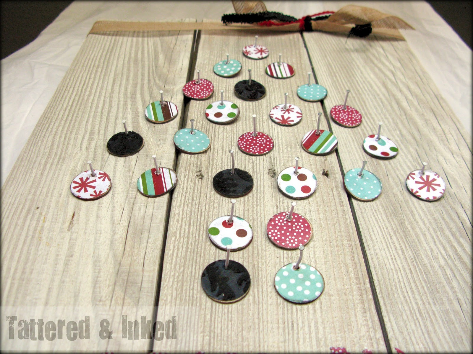 Tattered And Inked Diy Wooden Advent Calendar