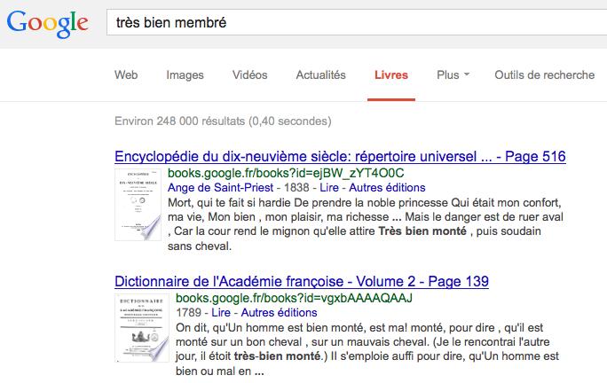 Exclusif : les bouquins qui montrent les paramètres de google