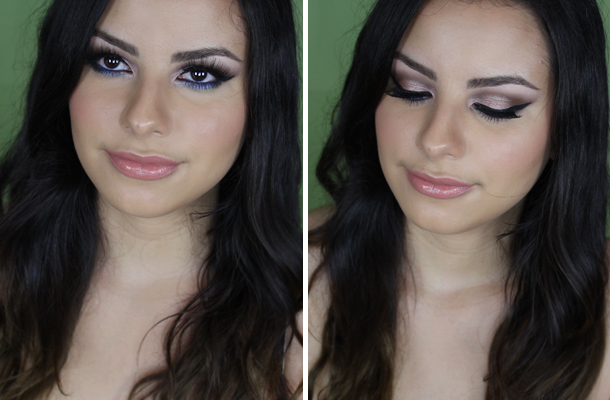 Nighttime Glam Makeup Look mac deep truth l'oreal amber rush