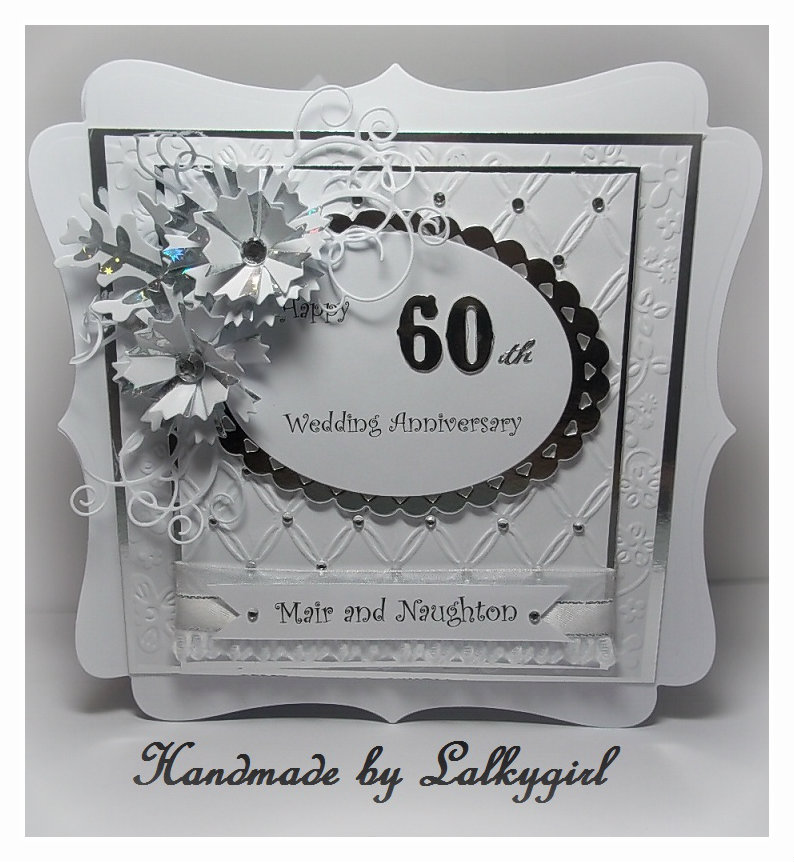 My creative Place: HAPPY 60th ANNIVERSARY CARD