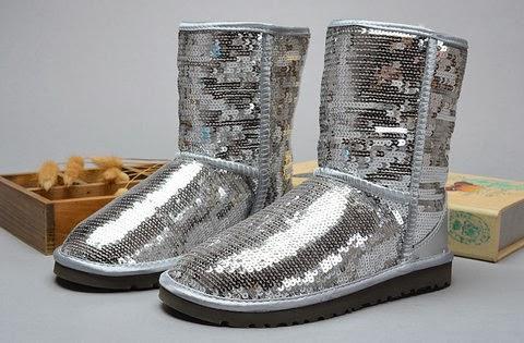 silver sequin uggs