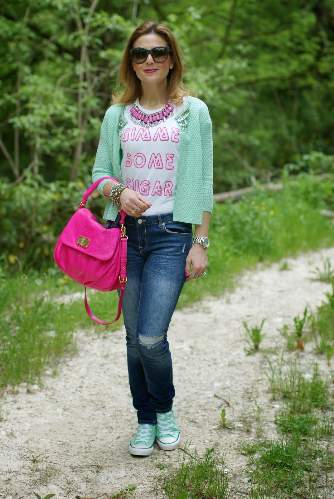 Cake for Breakfast t-shirt, Sodini necklace, Fashion and Cookies, fashion blogger