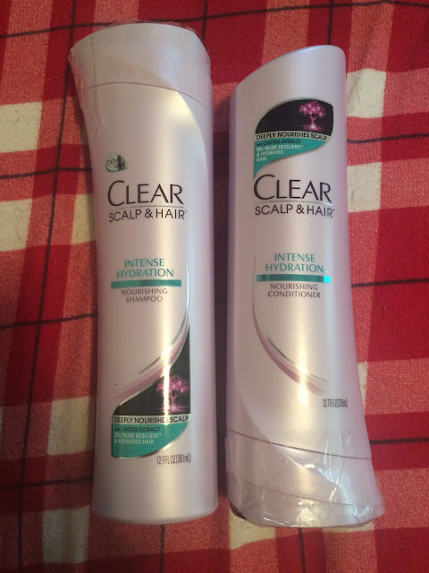 clear shampoo and conditioner