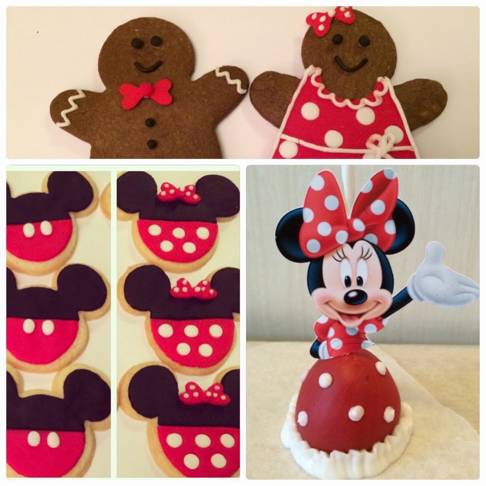 for the party i got to make minnie and mickey sugar cookies gingerbread boys and girls and minnie mouse cake pops which were featured on the sweet - Mickey Mouse Christmas Cookies