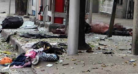 Seram, Nih Foto dan Video CCTV Bom Bangkok, Tampak Serpihan Tubuh Manusia Berhamburan