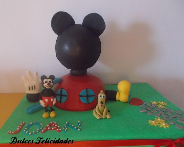 Tarta fondant La casa de Mickey Mouse