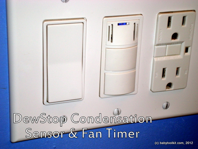 Existing Light Switch And Outlet Top Panel Has Sensor LED Middle Button Is Manual On Lowest Off