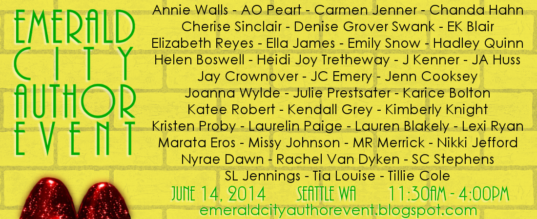 Emerald City Author Event – Seattle, WA –  June 14, 2014