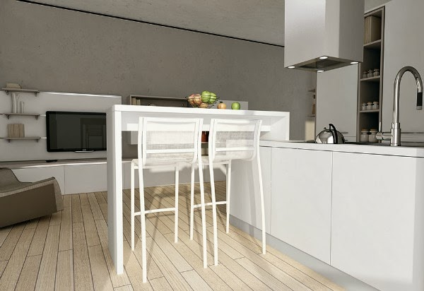 Consigli per la casa e l 39 arredamento mini appartamento o monolocale soluzioni per creare un - Cucine per ambienti piccoli ...