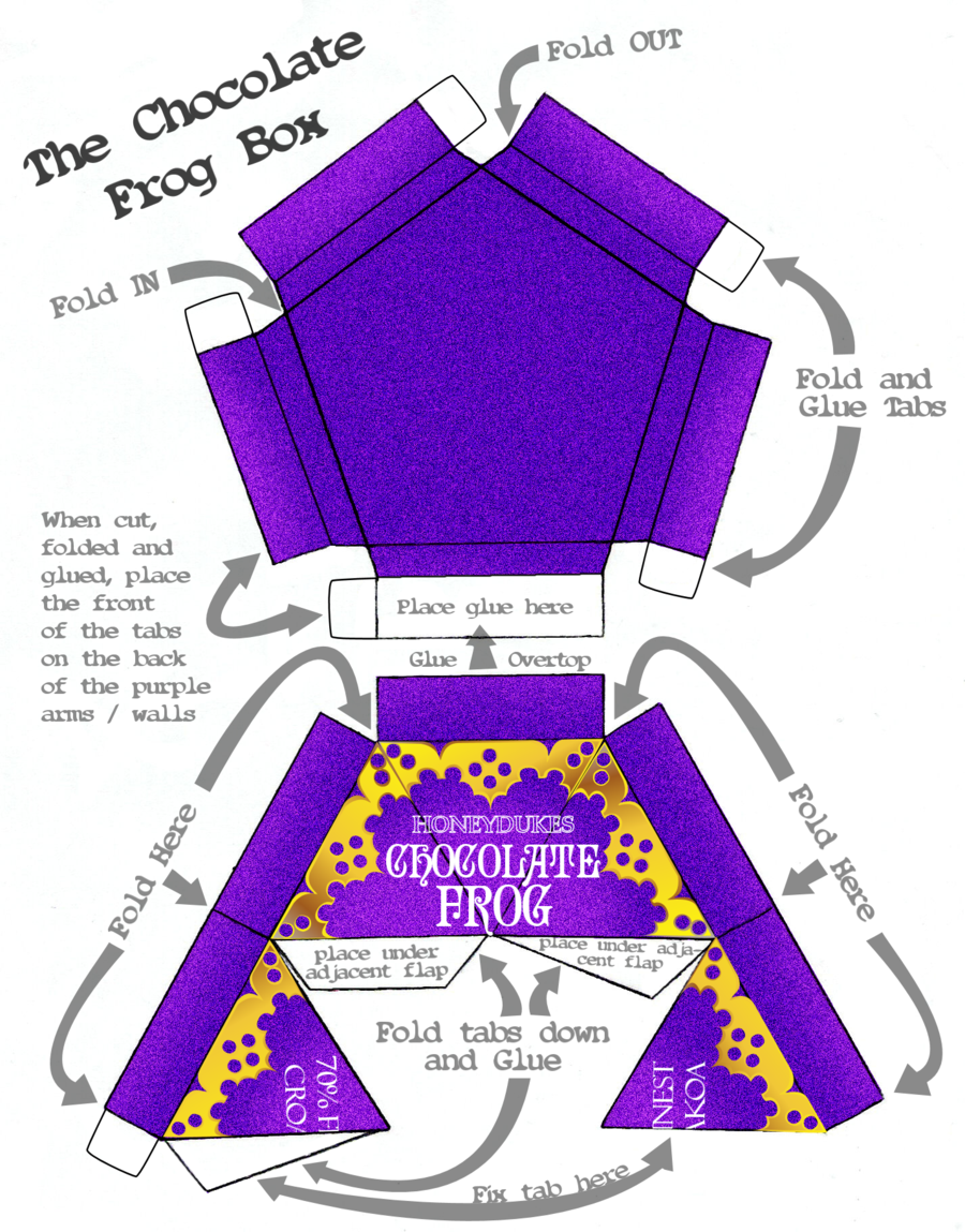 This is a graphic of Smart Chocolate Frog Printable