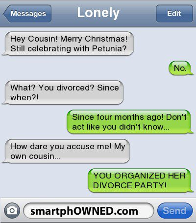 You Organized Her Divorce Party