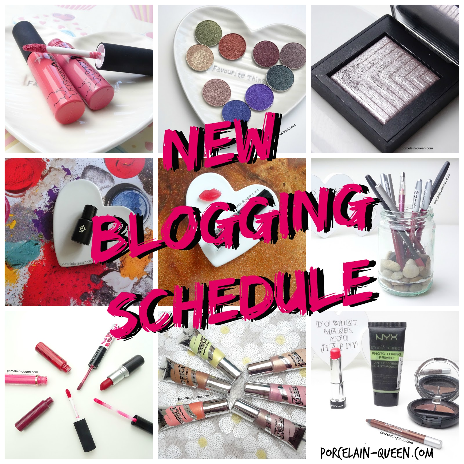 Porcelain Queen Blog Schedule