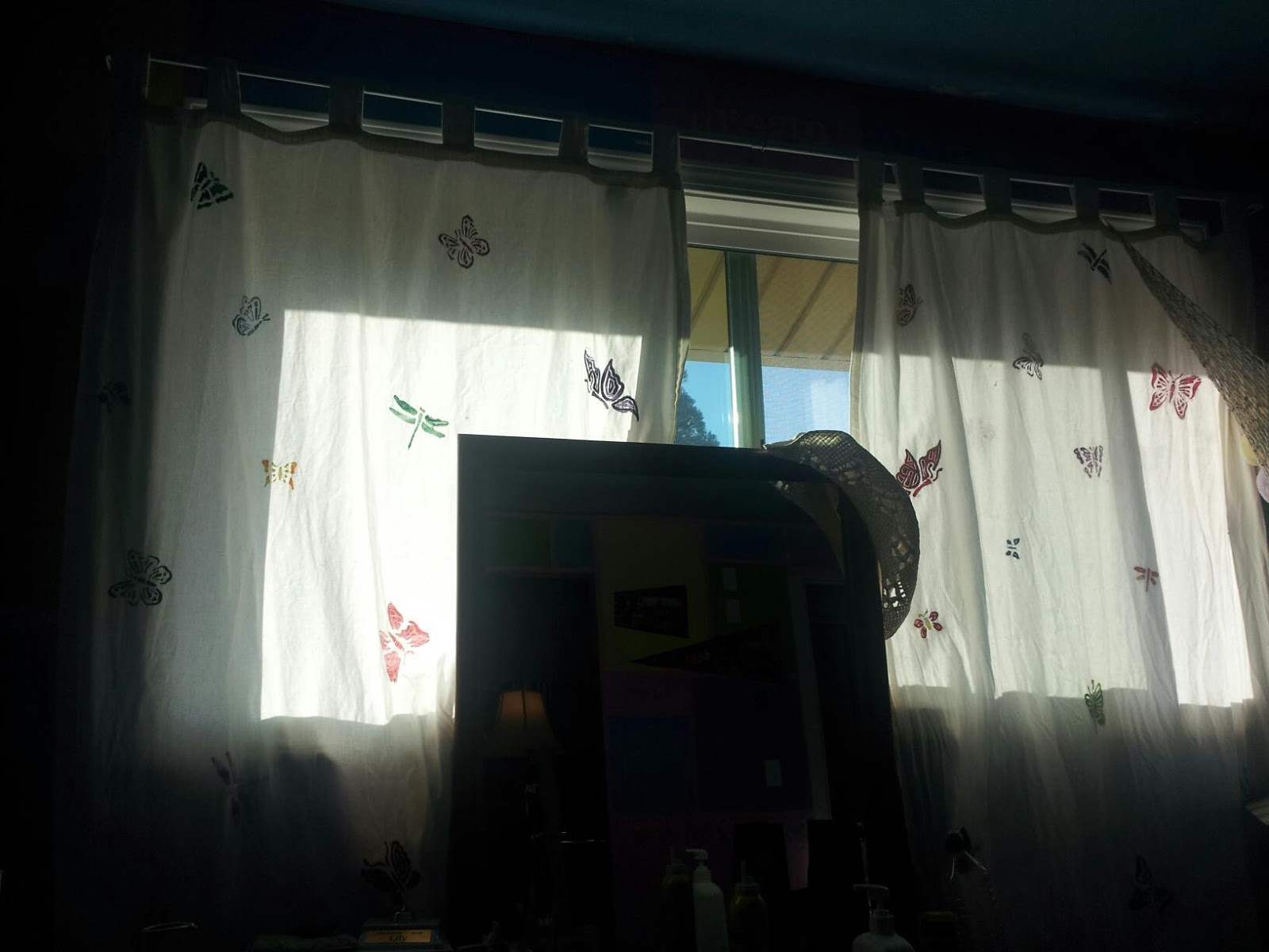 Girl room embroidered curtains