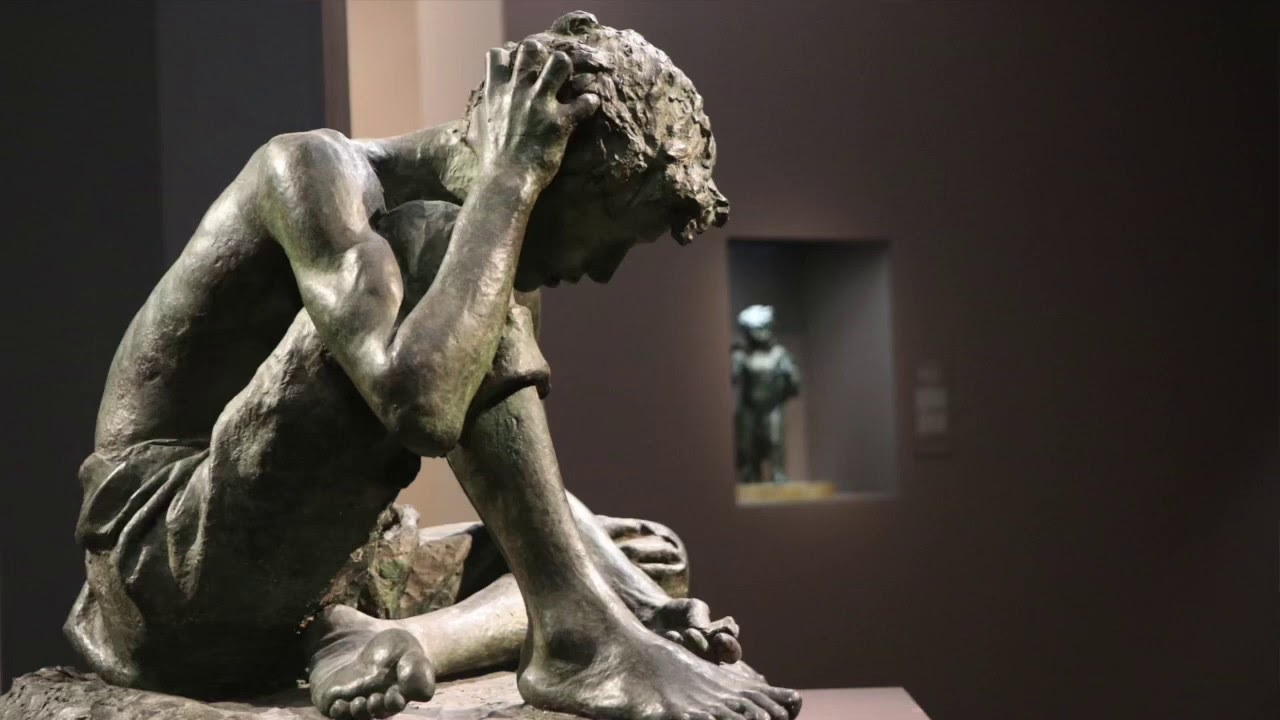 Vincenzo Gemito Il giocatore  Napoli Museo e Real  osco di Capodimonte