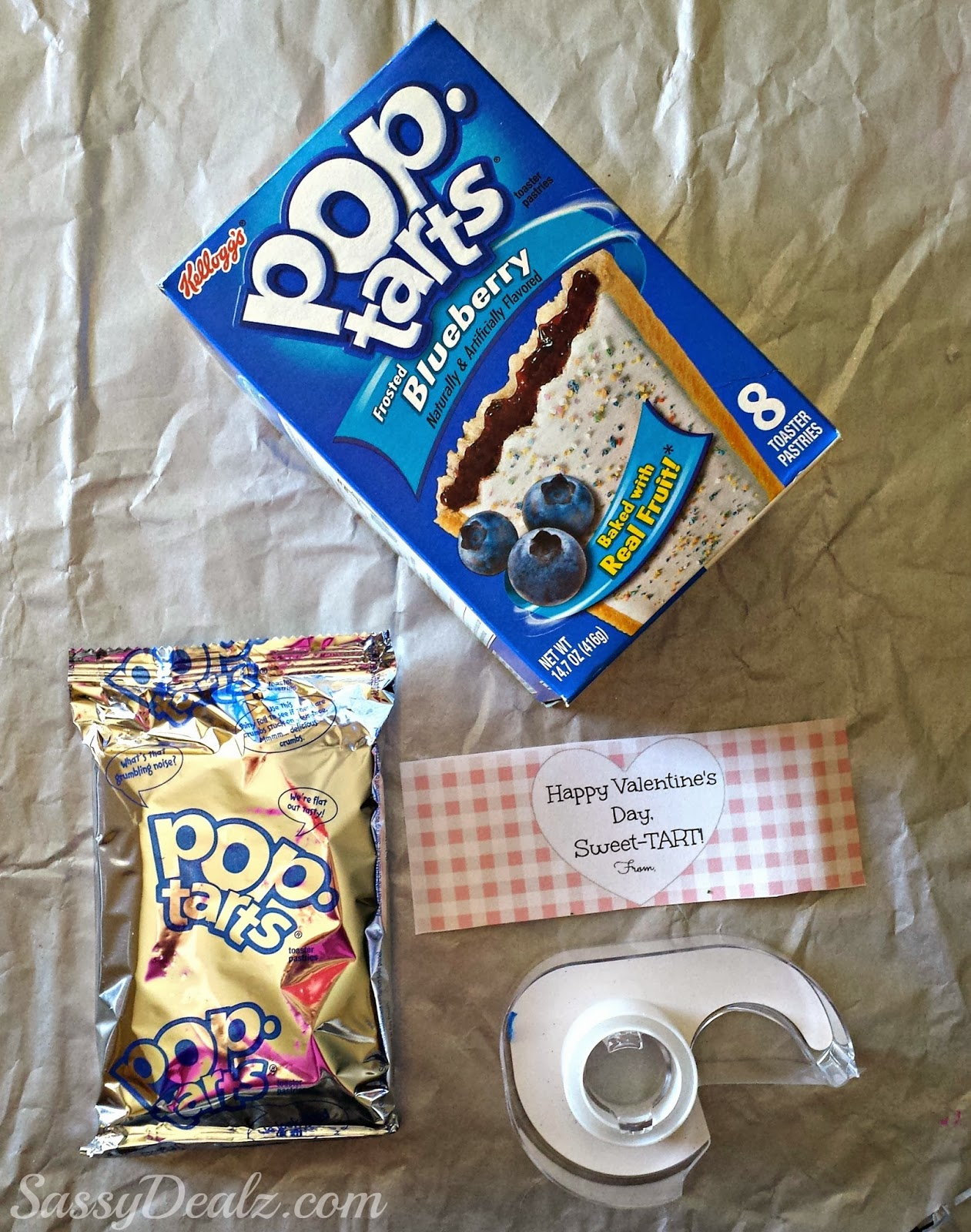 pop-tart valentines day gift idea