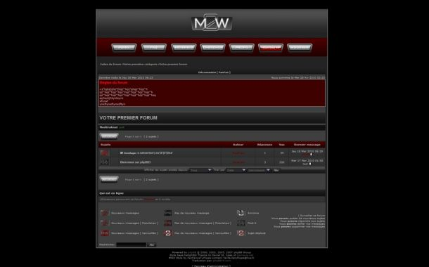 Free Abstract Black Red Phpbb Style Theme