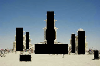 the temple of transition at burning man 2011
