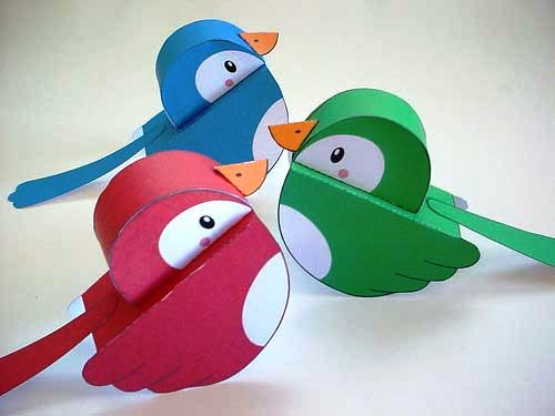 Paper Craft Birds Ideas 3d Origami For Kids