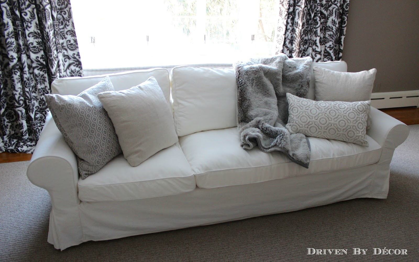 How We Supersized Our IKEA EKTORP Sofa  Driven by Decor