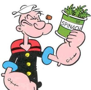 Popeye with Spinach