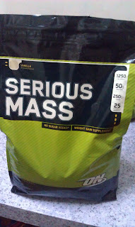 ON 100% Serious Mass vanila flavor 12 lbs