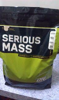 ON 100% Serious Mass vanila flavor 12 lbs