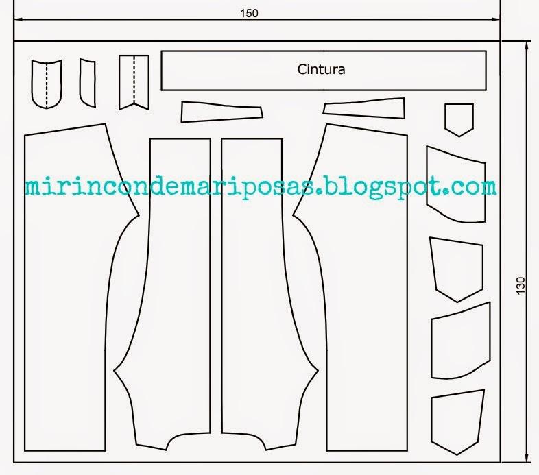 mi rincón de mariposas: Día 1 CC jeans hombre: patrones y cortar tela