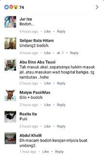 Si bodoh yang komen berdasarkan tajuk tanpa membaca berita sebenar.