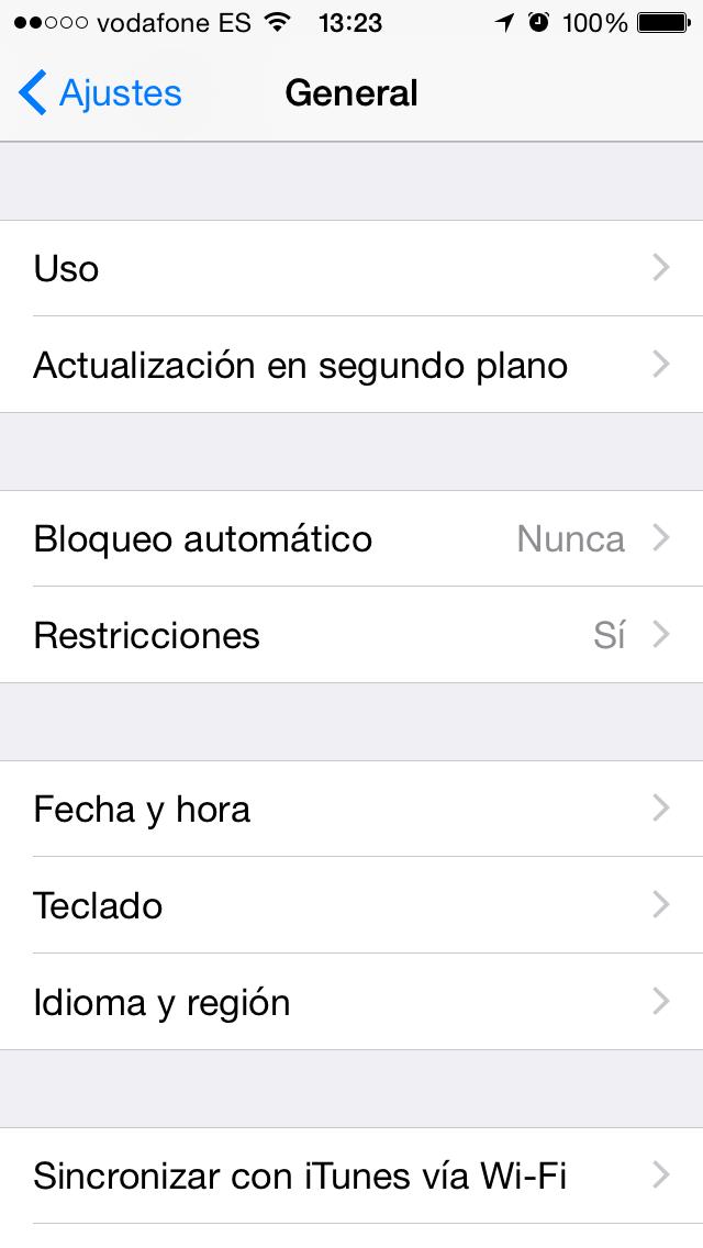 Quitar compras en Apps - Restricciones