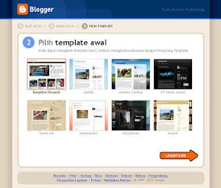 Blogger Pilih template