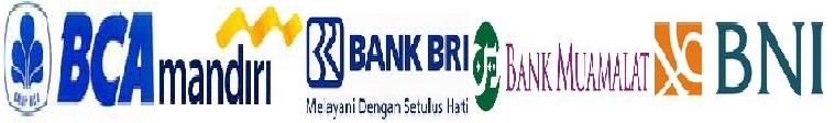 Pembayaran Bisa di transfer Melalui Via Rek BRI,BNI,BCA,MANDIRI,MAMUALAT.