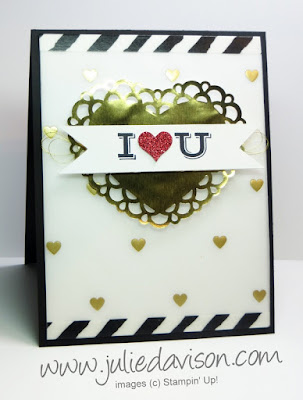 Stampin' Up! Pictogram Punches Valentine Card for Global Design Project #20 GDP020 #stampinup www.juliedavison.com