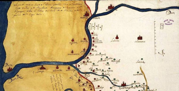 Mapa de La Ribera del Duero de Salamanca en 1641