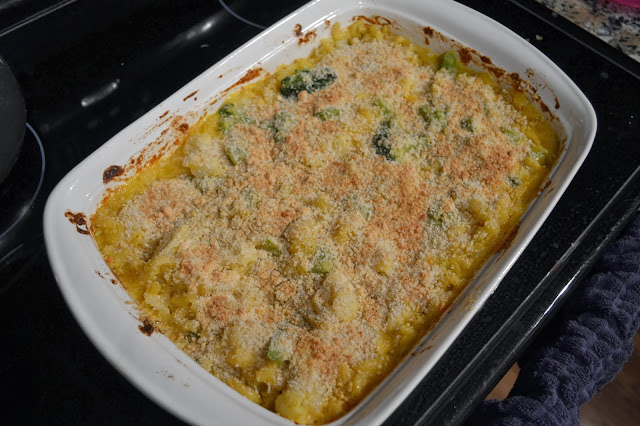 Baked Veggie Macaroni and Cheese #recipe