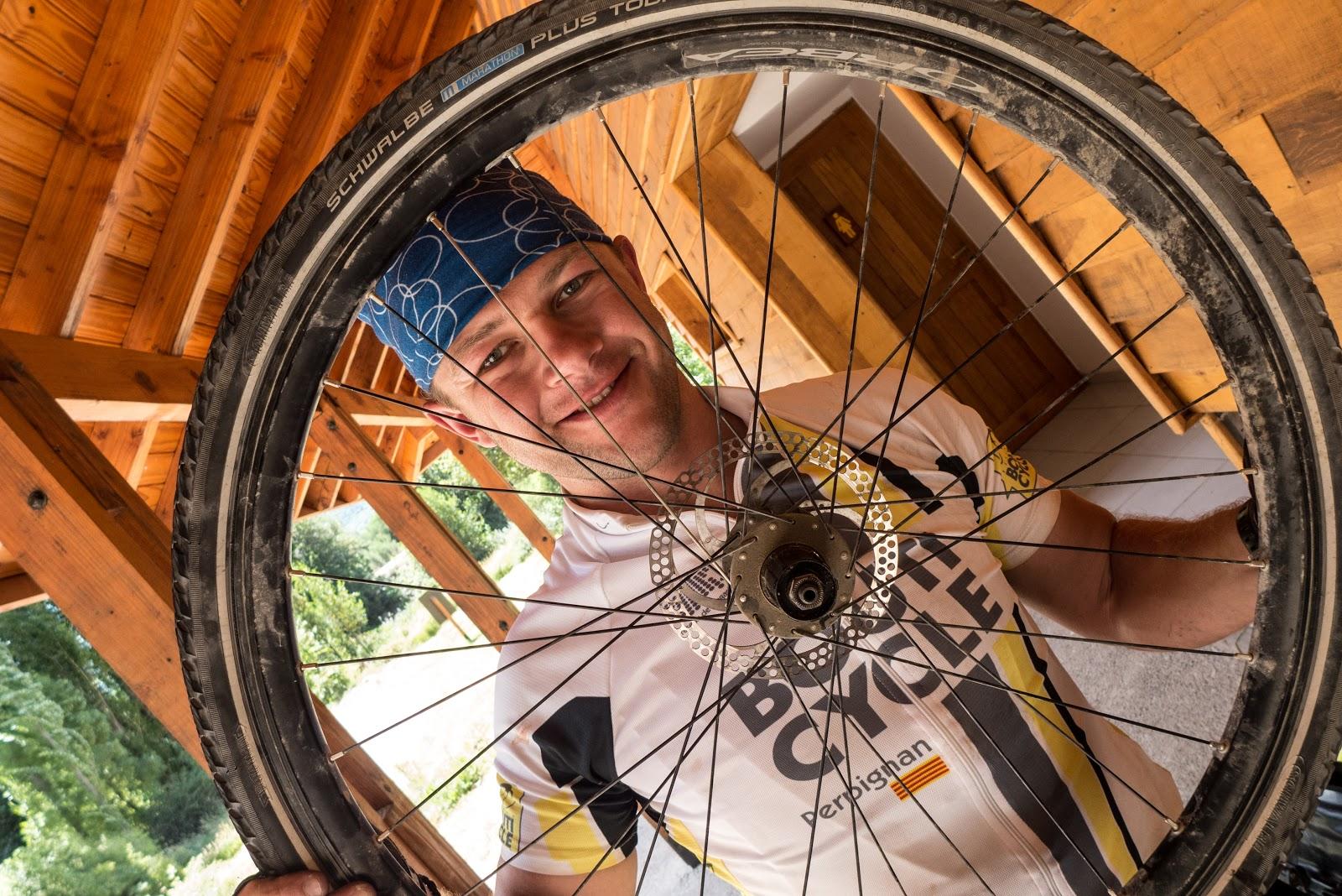 Bytte  eiker  på  sykkel