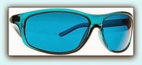 The Color Blue or Aqua (turquoise) Colored Glasses
