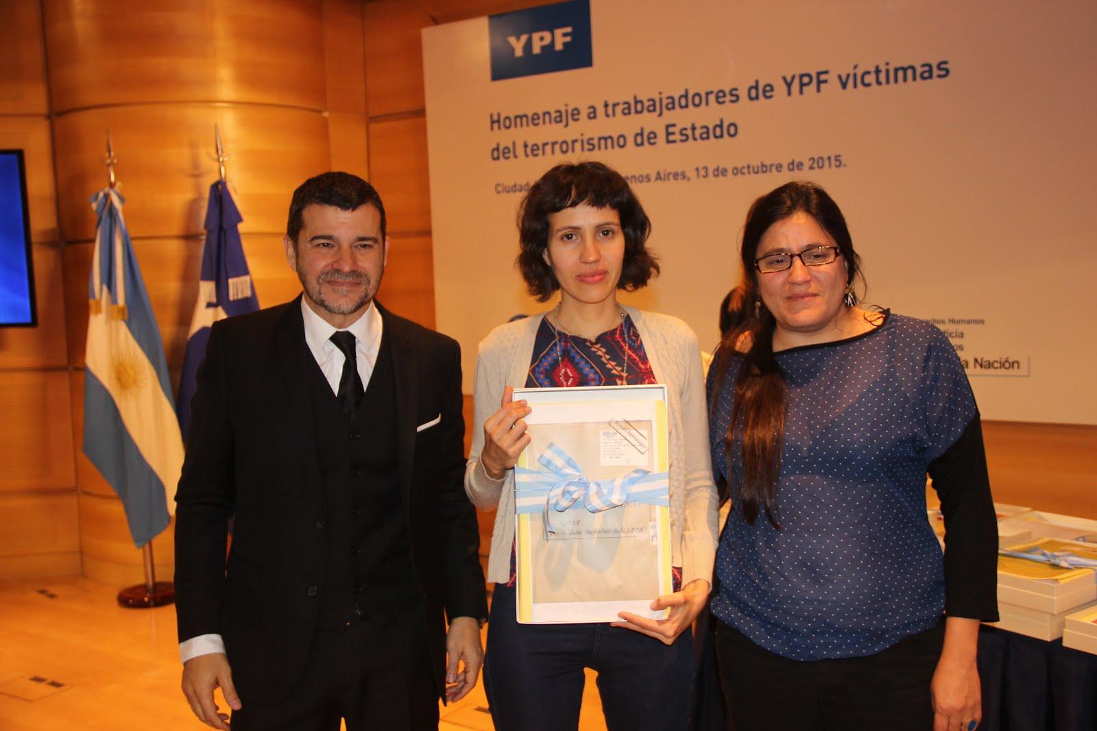 Acto Homenaje a Trabajad.  YPF víctimas del Terrorismo de Estado