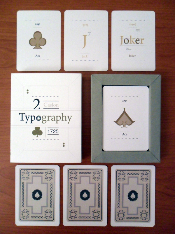 Typography Playing Cards
