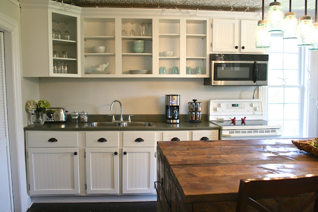 Kitchen renovation makeover progress before and after for Cheap diy kitchen cabinets