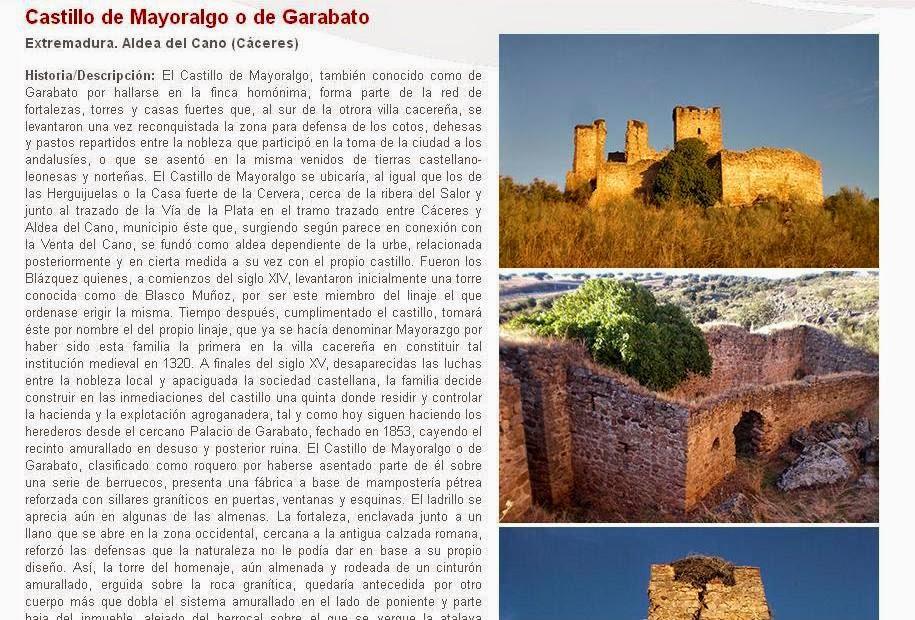 Lista Roja del Patrimonio: Castillo de Mayoralgo o de Garabato (Cáceres)