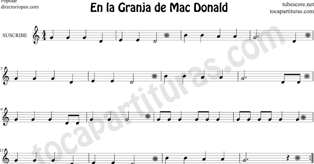 old macdonald sheet music pdf