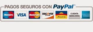 Aceptamos tarjetas de crédito y débito.