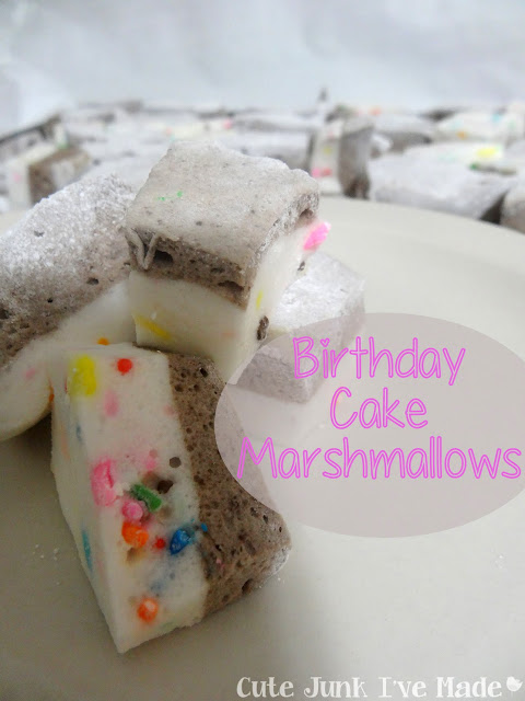 Cute Junk I've Made | Birthday Cake Marshmallows