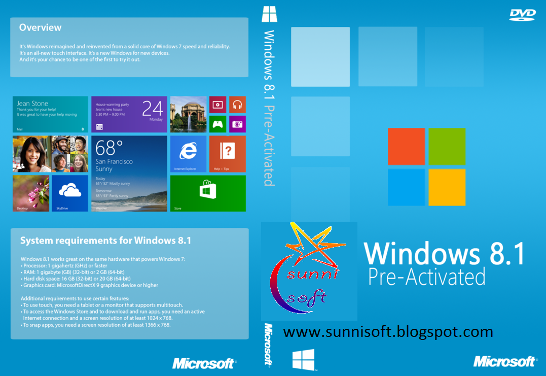 Microsoft windows 8 1 professional with update 32 64 bit for Microsoft windows 1