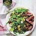 Steak and potato salad with pumpkin seedsSteak and potato salad with pumpkin seeds recipe