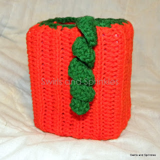 Swirls and Sprinkles: Crochet pumpkin tissue box Kozie pattern